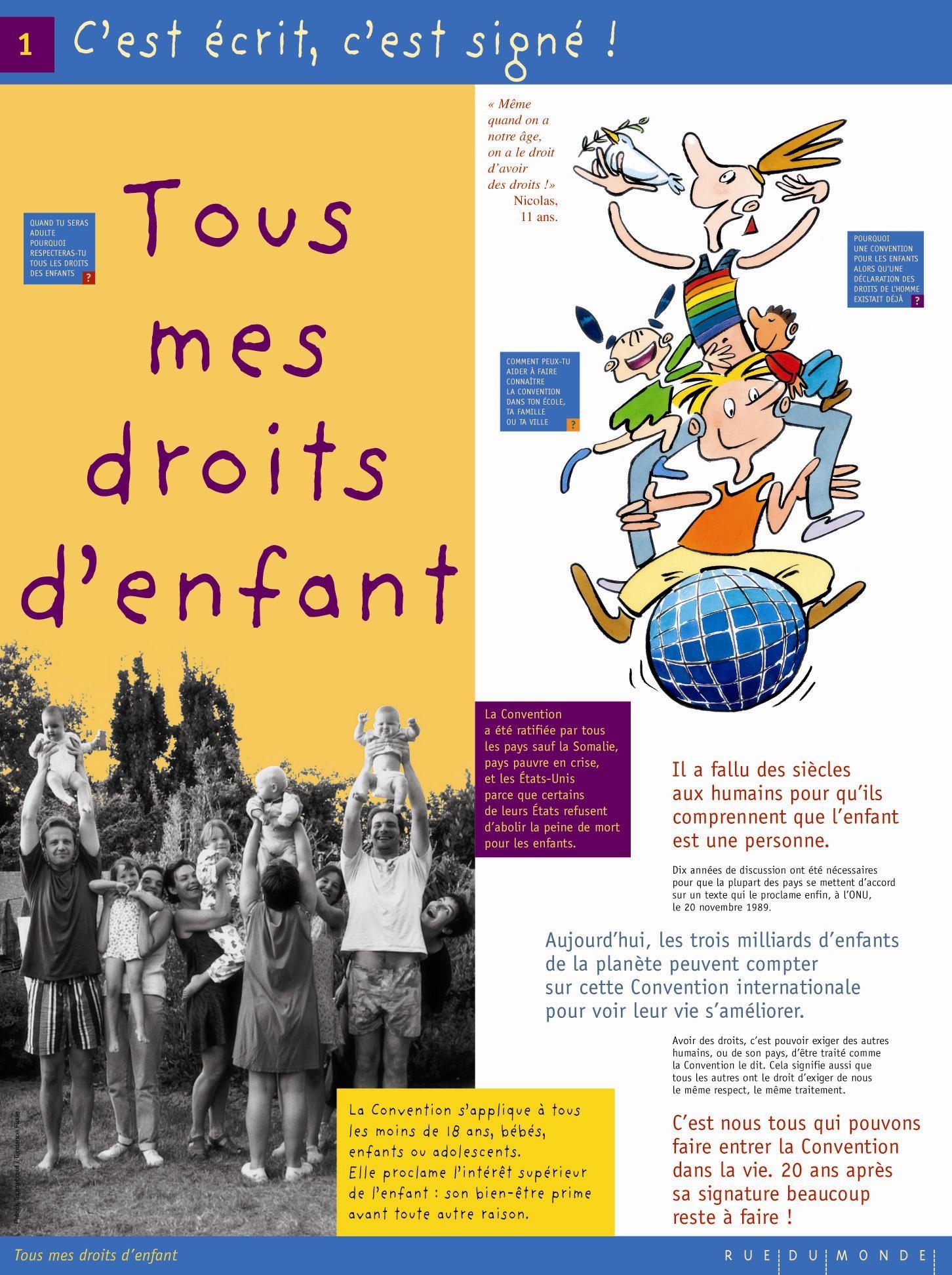 Fabuleux Tous mes droits d'Enfant - Exposition - La ligue de l'enseignement  OU49
