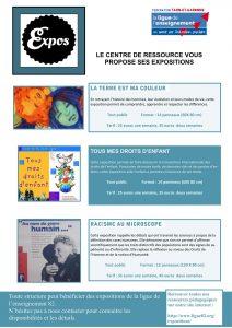 Catalogue et Présentation de toutes les expositions