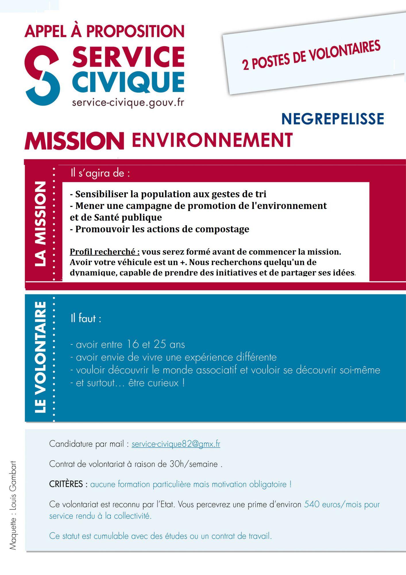 Mission environnement Négrepelisse 2016