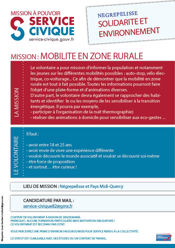Mission soutenir la transition énergétique Négrepelisse