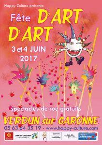 Happy culture organise la fête d'Art d'Art le 3 et 4 juin 2017
