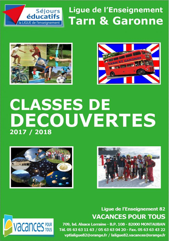 Classes de découvertes 2017 2018