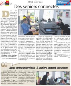 Des séniors connectés à Castelsarrasin !