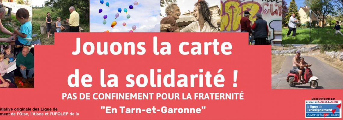 Lancement de l'opération « Jouons la carte de la solidarité en Tarn et Garonne »