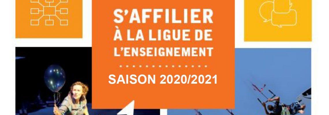 S'affilier à la Ligue de l'enseignement pour la saison 2020/2021