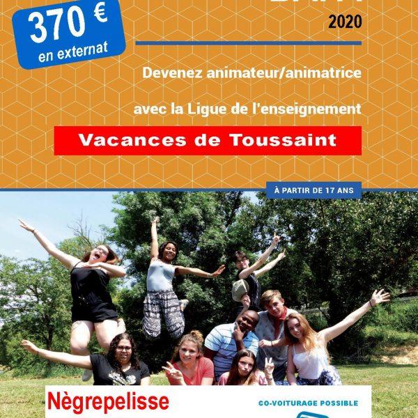 FORMATION GENERALE BAFA / Vacances de Toussaint